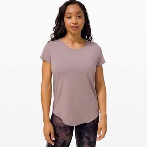 Lululemon Mauve Cotton Tee Shirt